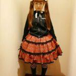 Seriøst gotisk-lolita-billede