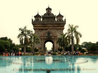 Patuxai Monument i Vientiane, Laos